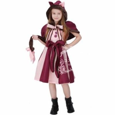 ハロウィン ワンピース 子供服 キッズ 女の子 コスプレ 猫 アニマル 欧米風 可愛い イベント仮装 ステージ 猫耳 セクシー ネコ キャラク