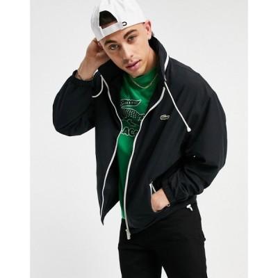 ラコステ Lacoste メンズ ジャケット アウター Classic Jacket With Concealed Hood In Black ブラック