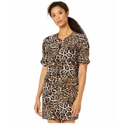カレンケーン レディース ワンピース トップス Leopard Print Shift Dress Leopard