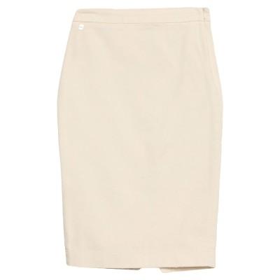 マニラ グレース MANILA GRACE ひざ丈スカート アイボリー 38 コットン 98% / ポリウレタン 2% ひざ丈スカート