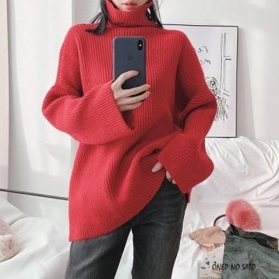 ハイネック セーター カットソー長袖 ざっくり セーター ニット リブニット セーター タートルネック カジュアル シンプル jm1054