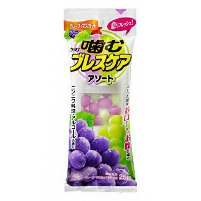 噛むブレスケア アソートタイプ 25粒(グレープ&マスカット味)