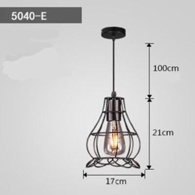 LED鉄工レトロ工業スタイル天井ランプ装飾ペンダント
