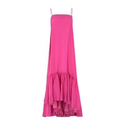 ジャンルカ・カパンノロ GIANLUCA CAPANNOLO ロングワンピース&ドレス フューシャ 42 シルク 100% ロングワンピース&ドレス
