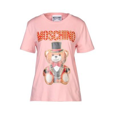 モスキーノ MOSCHINO T シャツ ピンク 42 コットン 100% T シャツ