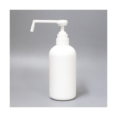 出入口の除菌剤入れに最適!シャワーポンプボトル500ml(白)アルコールディスペンサー詰め替え容器 プッシュ式 つめかえ簡単 ◆高濃度アルコール対応◆