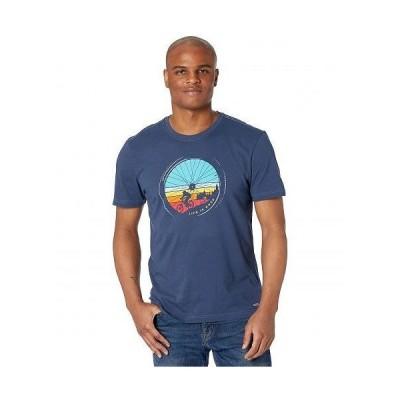 Life is good ライフイズグッド メンズ 男性用 ファッション Tシャツ Crusher(TM) Tee Downhill - Darkest Blue