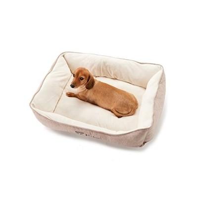 【犬 猫 ペット ベッド】 Four Legs スクエアベッド (L, ヘリンボーンブラウン)