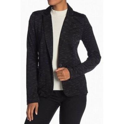 Blazer ブレザー ファッション 衣類 Olivia Moon NEW Black White Space-Dye Womens Size XL Blazer Knit Jacket