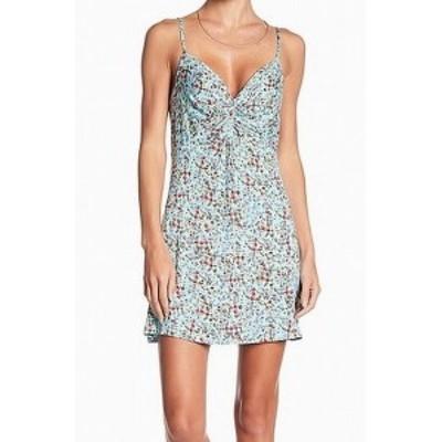 Fire ファイア ファッション ドレス Love Fire NEW Blue Floral Print Womens Medium M Knit Sheath Dress