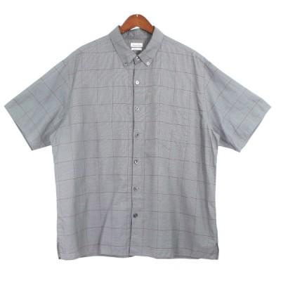 【9月28日値下】steven alan チェックボックスシャツ グレー サイズ:L (吉祥寺店)