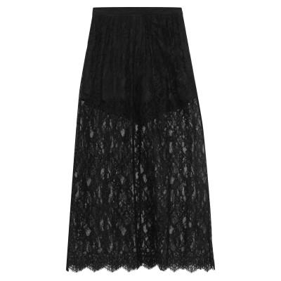 FLEUR DU MAL ロングスカート ブラック 8 コットン 95% / ナイロン 5% ロングスカート