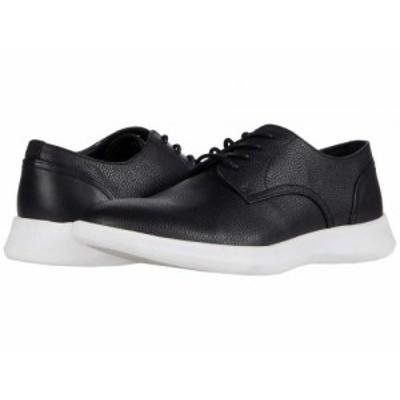 Calvin Klein カルバンクライン メンズ 男性用 シューズ 靴 オックスフォード 紳士靴 通勤靴 Cornelius Black/White Tumbled【送料無料】