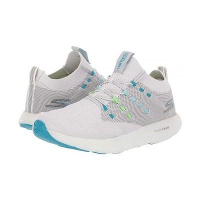 SKECHERS スケッチャーズ レディース 女性用 シューズ 靴 スニーカー 運動靴 Go Run 7 - Gray/Blue