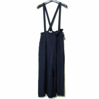 Vintage old INGEBORG ヴィンテージ オールド インゲボルグ ジャンパーマキシ丈スカート (PINK HOUSE ピンクハウス ロング 紺) 099054