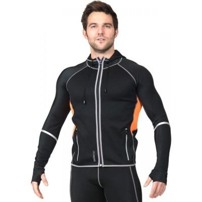 サウナテック SAUNATEK メンズ フィットネス・トレーニング フード ジャケット アウター SaunaTek Neoprene Hooded Jacket Black Combo