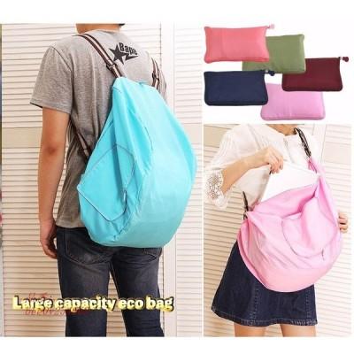 リュック型 キャンバッグ ポータブル 折りたたみショッピングバッグ 旅行用 大容量 収納バッグ 防水 エコバッグ