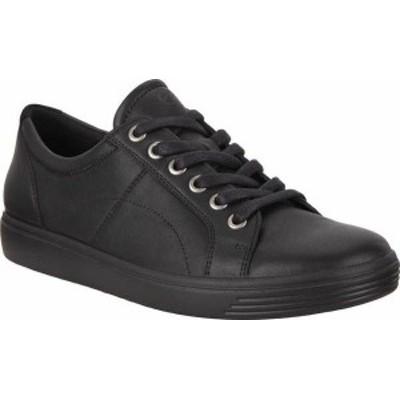 エコー レディース スニーカー シューズ Women's ECCO Soft Classic Lace Sneaker Black/Black/Black Suede/Nubuck