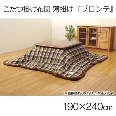 こたつ掛け布団 薄掛け ブロンテ 190×240cm ベージュ