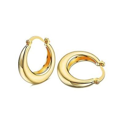 Udalyn Small Gold Hoop Earrings For Women Chunky Hoops Cute Minimalist Earr