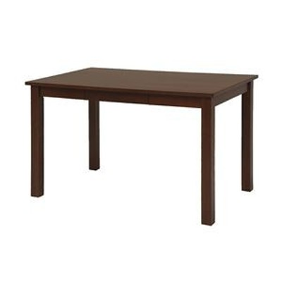 ds-2333998 北欧風 ダイニングテーブル/食卓机 【引き出し付き ダークブラウン】 約幅120×奥行75×高さ70cm 組立品 〔リビング〕【代引