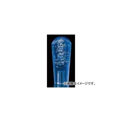 ジェットイノウエ ダイヤモンドカット泡シフトノブ ブルー 50mmφ、115mm 口径:10×1.25 560659