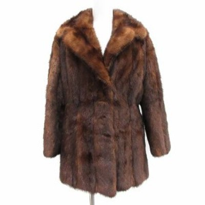 【中古】カナダファー Canada Fur 毛皮コート ファー  茶 ブラウン /MF40 レディース