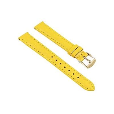 輸入商品 StrapsCo クラシック レディース 女性用レザー 時計バンド ~ クイックリリース ストラップ ~ 黄色 24mm 人気商品