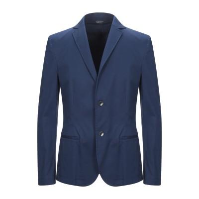 グレイ ダニエレ アレッサンドリーニ GREY DANIELE ALESSANDRINI テーラードジャケット ブルー 50 コットン 98% /