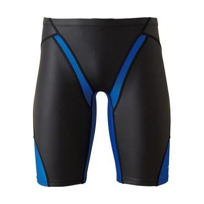 ミズノ(MIZUNO) メンズ レディース 水着 競泳練習用FG-II ハーフスパッツ ブラック×ブルー N2MB9578 92 トレーニング 部活