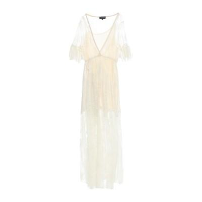 VANESSA SCOTT ロングワンピース&ドレス ベージュ S ナイロン 100% ロングワンピース&ドレス