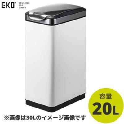 【送料無料】EKO ごみ箱 ティナ タッチビン 20L ホワイト EK9177MP-20L-WH イーケーオー