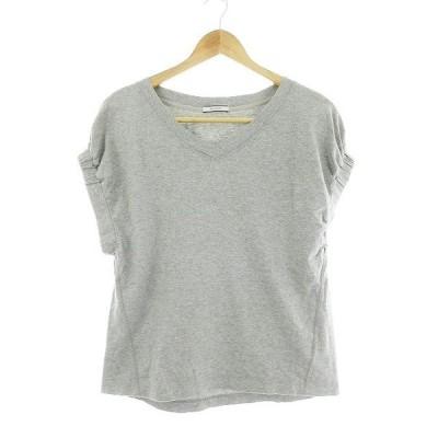 【中古】ベイフロー BAYFLOW Tシャツ カットソー 半袖 無地 2 グレー /CK レディース 【ベクトル 古着】