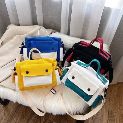 バッグ レディース きれいめ 40代 通勤バッグ 夏用 可愛い 韓国風 かばん ショルダーバッグ 斜めがけバッグ 手提げバッグ シンプル オシャレ 帆布バッグ 4色