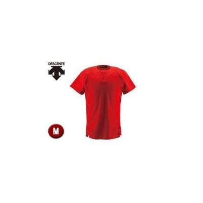 DESCENTE/デサント  DB1012-RED ユニフォームシャツ ハーフボタンシャツ 【M】 (レッド)