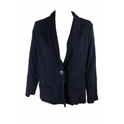 ファッション 衣類 Stile & Co Piccola Industrial Blu French-Terry Giacca Pxl