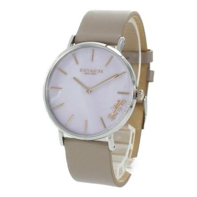 コーチ レディース PERRY ペリー 綺麗色 ライトピンク シェル グレージュ レザー 革 とけい 14503245 あすつく 腕時計