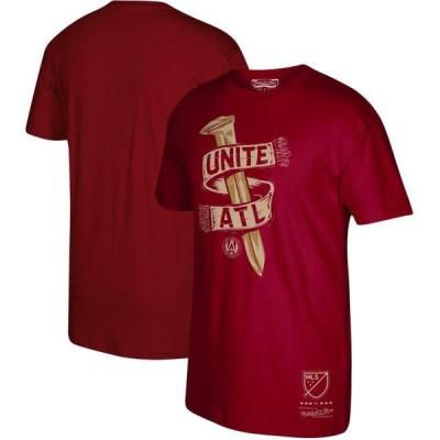 ユニセックス スポーツリーグ サッカー Atlanta United FC Mitchell & Ness Golden Spike T-Shirt - Cardinal Tシャツ