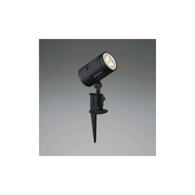 【法人限定】XU44316L コイズミ照明 LED防雨型スポット 本体:アルミダイカスト・黒色塗装前面ガラス:強化ガラス・透明スパイク:アルミダイカスト・黒色塗装