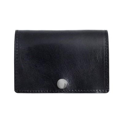 [Dom Teporna Italy] 小さい財布 本革 イタリアンレザー コンパクトな三つ折り ミニ財布 小銭入れあり メンズ レディース ブラック