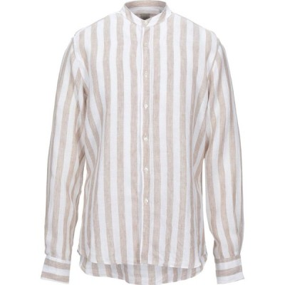 ザカス XACUS メンズ シャツ トップス Linen Shirt Sand