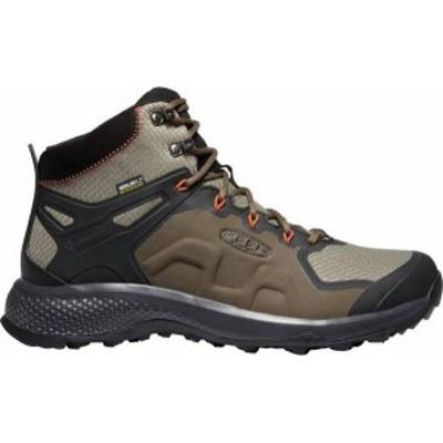 キーン メンズ ブーツ・レインブーツ シューズ KEEN Men's Explore Mid Waterproof Hiking Boots Canteen/Brindle
