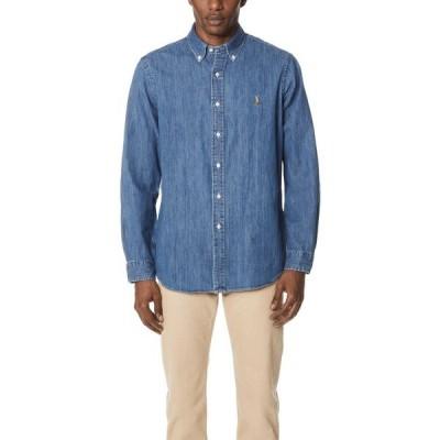 (取寄)ポロ ラルフローレン スタンダード フィット デニム スポーツ シャツ Polo Ralph Lauren Standard Fit Denim Sport Shirt Denim 送料無料