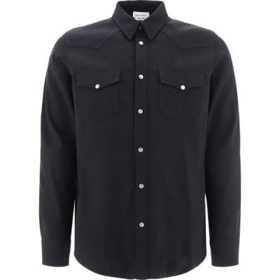 アレキサンダー マックイーン Alexander McQueen メンズ シャツ デニム トップス Selvedge Tape Denim Shirt Black