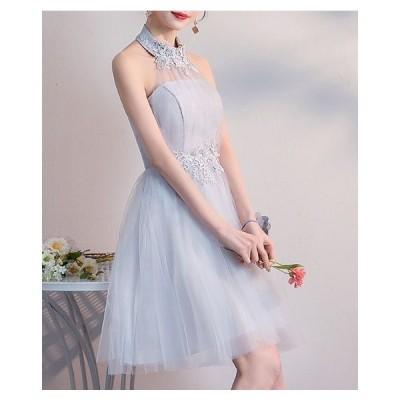 ドレス 結婚式 お呼ばれ 結婚式 お呼ばれドレス 20代 パーティドレス 韓国 パーティードレス 膝丈 レース エレガント jm3189