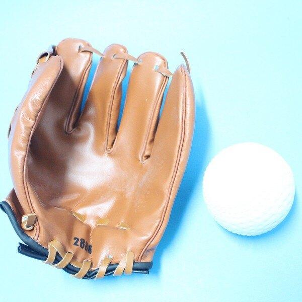 小兒童棒球手套 + 軟式安全棒球/一組入(促199)~國小以下適用~群