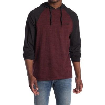 バンズ メンズ Tシャツ トップス Bedford Heathered Long Sleeve Hooded T-Shirt PHANTOM
