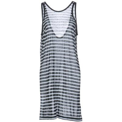 ALEXANDERWANG.T ミニワンピース&ドレス ダークグリーン XS レーヨン 86% / 麻 14% ミニワンピース&ドレス