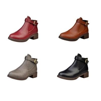 サイドゴアブーツ ウエスタンブーツ エンジニアブーツ  ワークブーツ 厚底 防寒靴 ショートブーツ 革靴 レディースシューズ