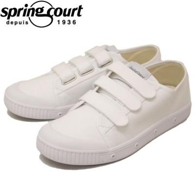 spring court (スプリングコート) G2NV-V1 G2 Velcro Canvas (ベルクロキャンバス) メンズ スニーカー WHITE (ホワイト) SPC011